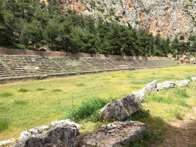 Stadium of Delphi, from the corner table, #fromthecornertable