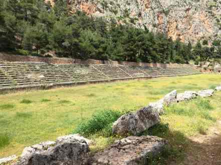 Stadium of Delphi, from the corner table, #fromthecornertable