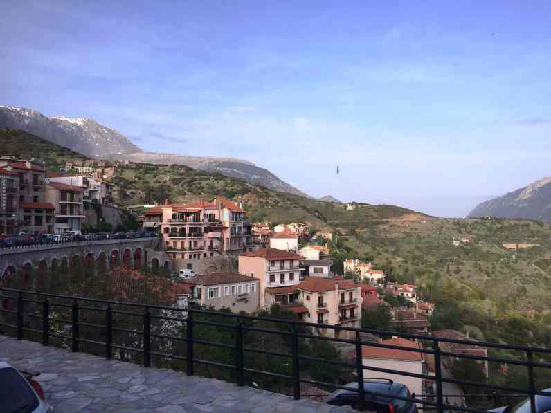 The view from Delphi, from the corner table, #fromthecornertable