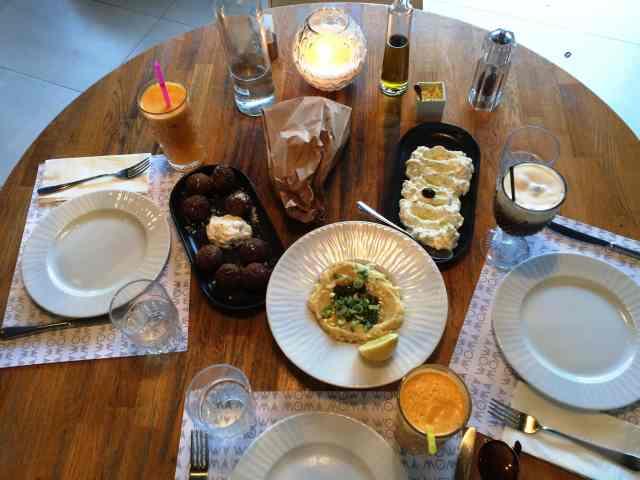 Kolokithokeftedes, Tzatziki, Fava Dip, Greek coffee, from the corner table, #fromthecornertable