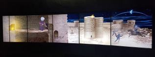 Exhibits about the various theories about the birth of this tower have been put up on each floor.
