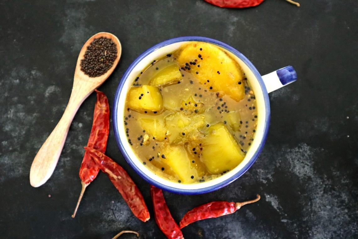 fromthecornertable, from the corner table, recipe, raw mango chutney, kaacha aamer chaatni, chutney, chaatni