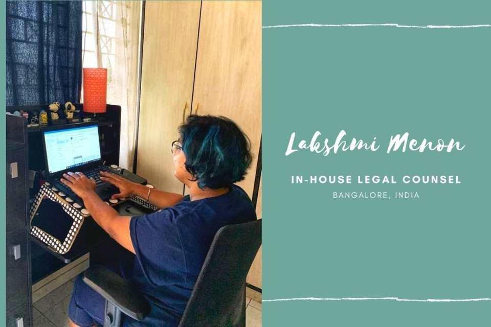 Lakshmi Menon's home work desk (copyright image) - From The Corner Table (the blog)