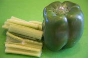 Celery and green bell pepper