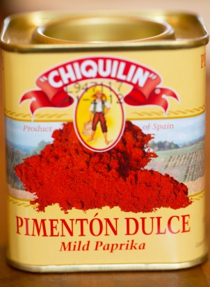 Paprika - this is mild, but you may use a hotter variety if you like