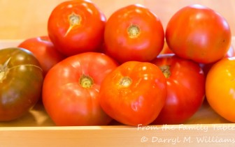 A variety of tomatoes from the farmers market