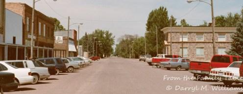 Main street of a North Dakota town