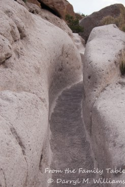Countless feet have worn this trail in the volcanic rock