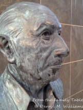 Bust of Igor Stravinsky on the Stravinsky Terrace