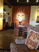 Art works in the lobby of La Posada