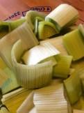 Chopped leeks ready for the Vita-Mix