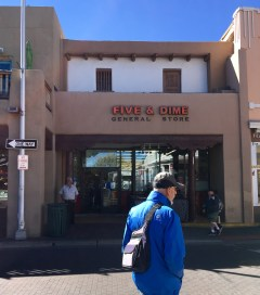 The Five and Dime General Store on the corner of the Santa Fe Plaza