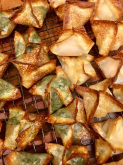 Two kinds of filled wontons