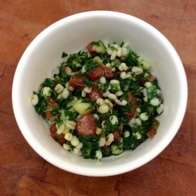 A dish of tabbouleh