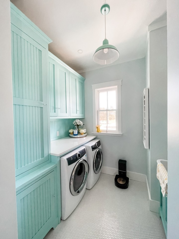 laundry room in a four gables house plan