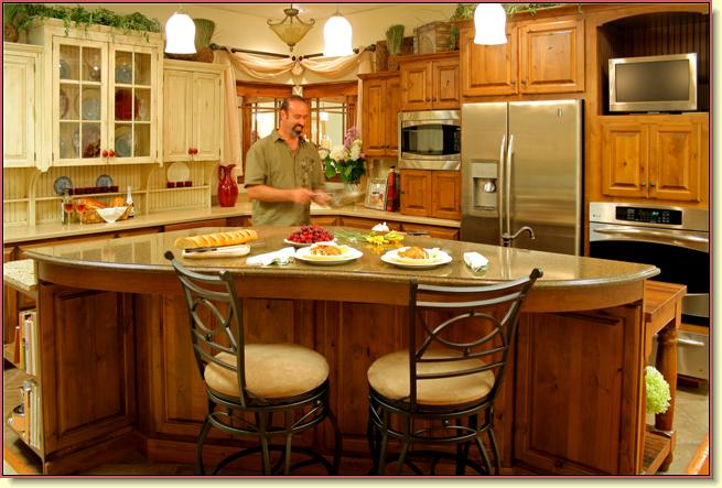 Galen Shelly in one of his custom built kitchens