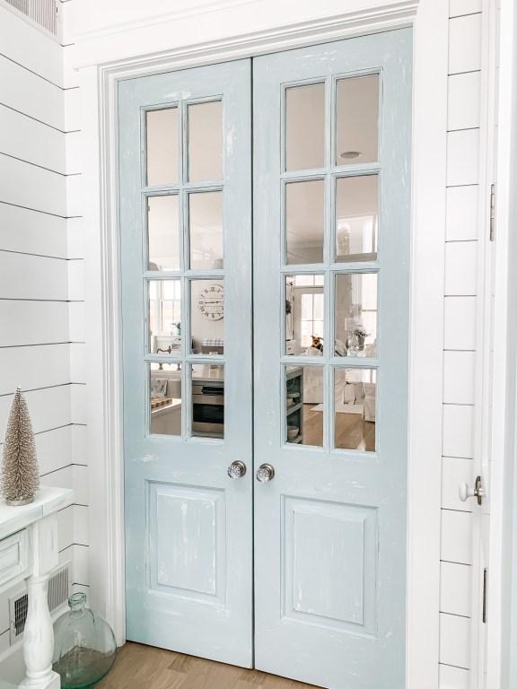 blue antique doors