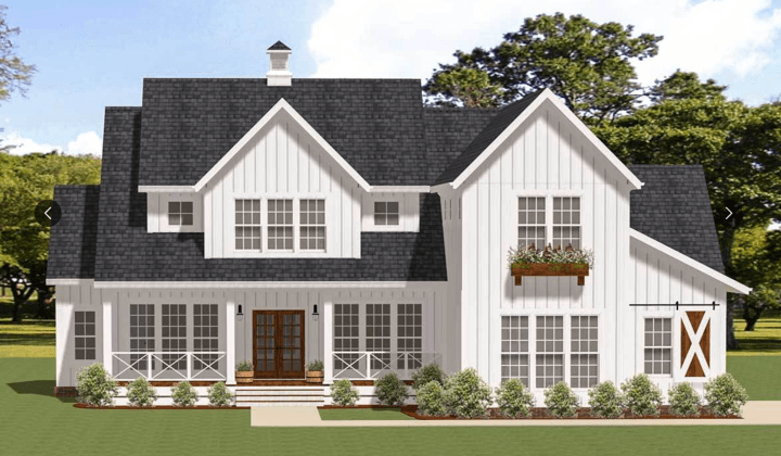 House Plan 46359LA Modern Farmhouse Plan with Ample Outdoor Living Space