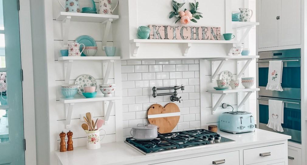 Chantilly Lace white kitchen