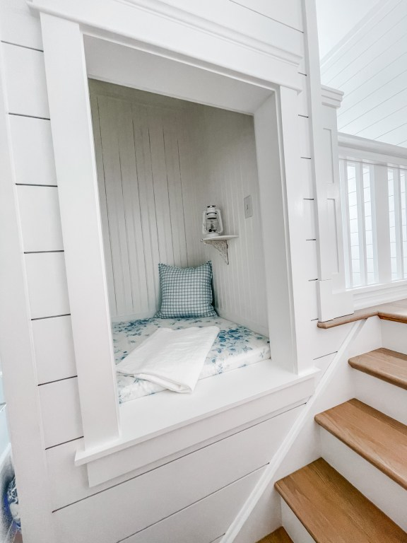reading nook in the stairwell