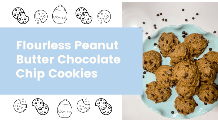 How to Make The Best Flourless Peanut Butter Chocolate Chip Cookies