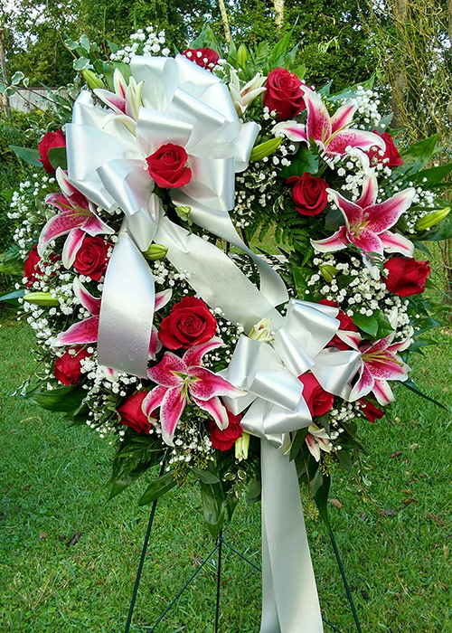 Sympathy and Funeral Arrangements - Fresh Sympathy Wreaths - From the Heart Florist