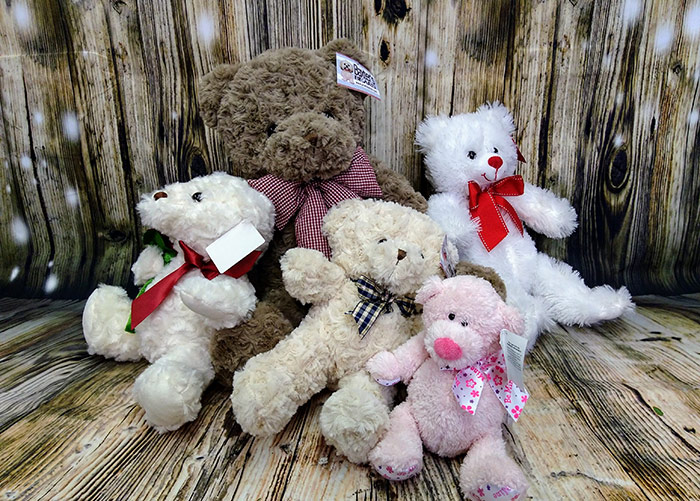 Valentine's Day plush animals. From the Heart Florist