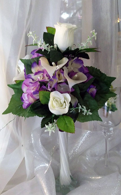 Silk Wedding bouquets, floral arrangements and decorations by From The Heart Florist