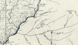 "This 1819 map of Illinois by John Melish (Plate XLVI in ""Atlas: Indian Villages of the Illinois Country 1670-1830), presents the ""Michilimackinac"" River flowing west-south-west into the Illinois River, with no northward bend as the Mackinaw River has today."
