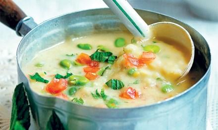 Recipe: Broad bean soup