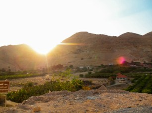 Mount of Temptation at sunset