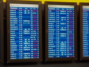 All the red on the right indicates cancelled flights.