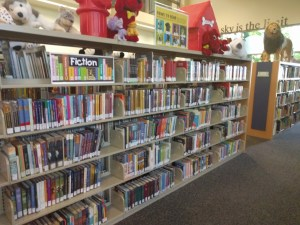 The MG fiction section of the Ronald H. Roberts Temecula Public Library