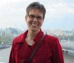 Author Janet Slingerland on the London Eye.