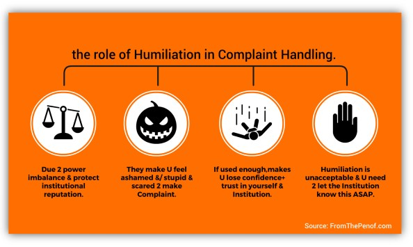 humiliation infograph red flag professional behaviour