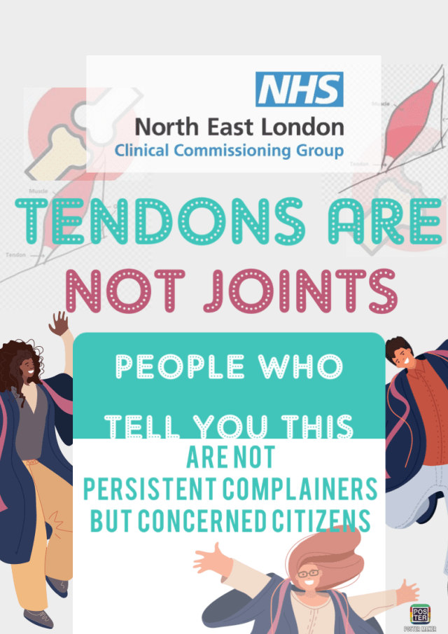 tendons are not joints