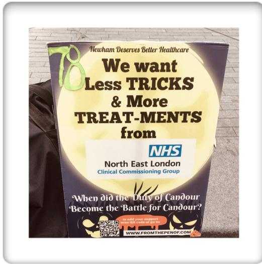 newham deserves better healthcare protest day 78