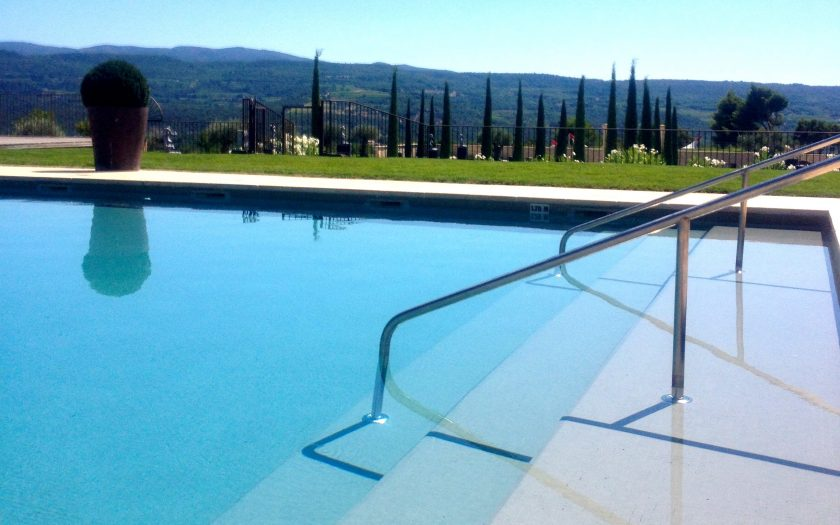 Pool and view at la Coquillade