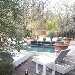 Limewood spa, the outdoor heated pool