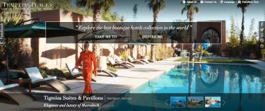 Tempting places, boutique hotels website