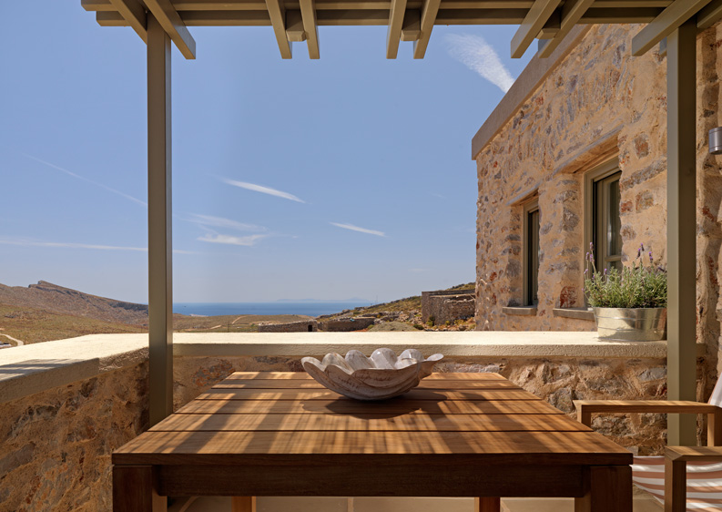 Themonies suites, folegandros, stylish rental, From the Poolside blog