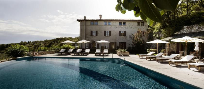 Villa Arcadio, perched on a hill above Lake Garda, Italy.