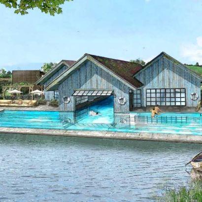 Soho Farmhouse, Great Tew Estate. New image of the boathouse