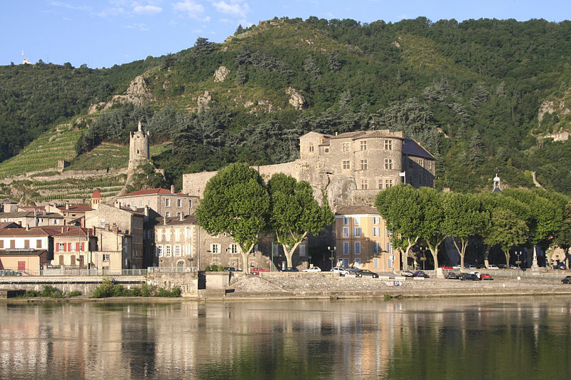 Tournon sur Rhone, the castle. Rhone valley. France