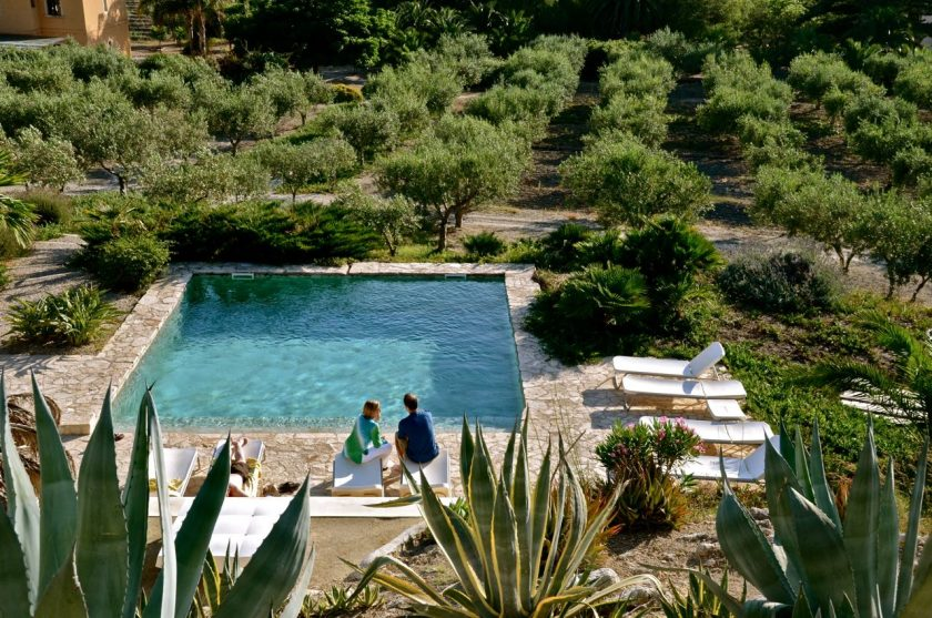 Mandranova agriturismo in Sicily. 9 rooms with pool. One of several beach boutique hotels that you can discover in this post.