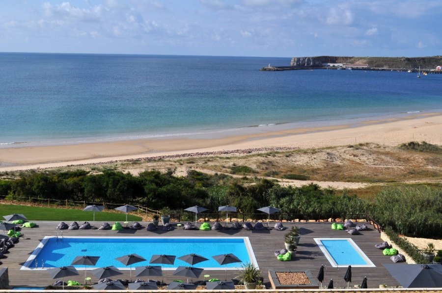 Martinhal Sagres, a resort near the beach with heated pools in Portugal. Read the post for more beach hotels with heated pool.