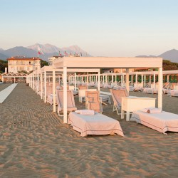 Villa grey, boutique hotel in Italy as found on From the Poolside, a blog on boutique hotels and gorgeous villa rentals for chic family holidays.  Private beach