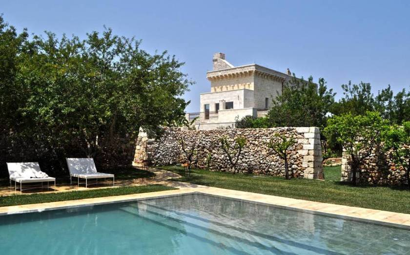 Masseria Trapana in Puglia, Italy opened in August 2015. One of 13 beach boutique hotels with a heated pool found on http://fromthepoolside.com.