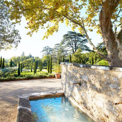 Domaine de Fontenille in Provence, a new boutique hotel with only 17 rooms and 2 restaurants. France. The garden