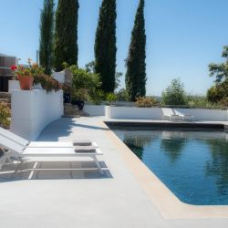 Farmhouse of the Palms, in Portugal, a stylish B&B with great rooms for families.  Pool